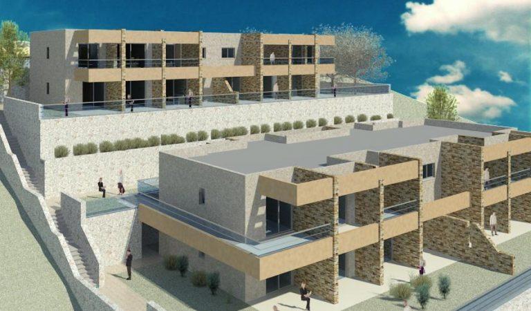 הדמייה ממוחשבת של בנייני מגורים נמוכי קומה