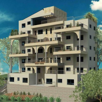שלוש עשרה יחידות דיור בבניין בן שבע קומות בטבריה