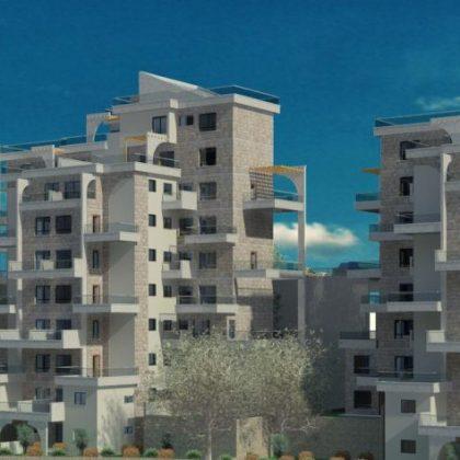 מגורים בארבעה מבנים בני 10 קומות בצפת