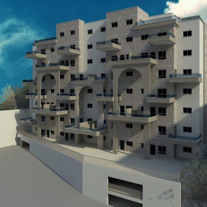 שלושים יחידות דיור, שמונה קומות בצפת