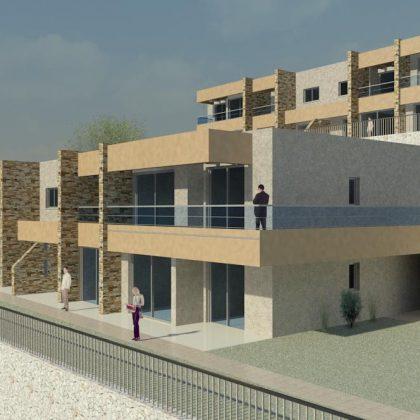 שש עשרה יחידות דיור בצפת בשני מבנים