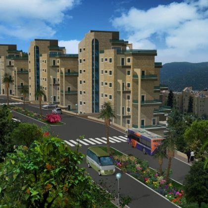 דירות מגורים בשלושה מבנים בני 11 קומות בצפת